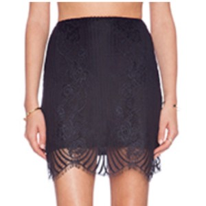 For Love & Lemons Mini Skirt black