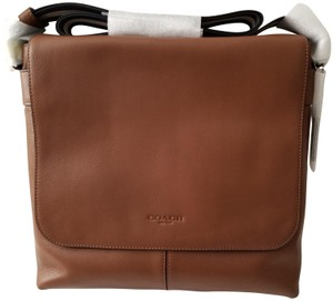 Coach Leather F28576 NICKEL/SADDLE Messenger Bag