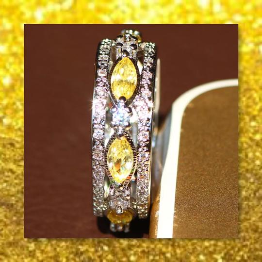 Other New Citrine and 925 Silver Eternity Band