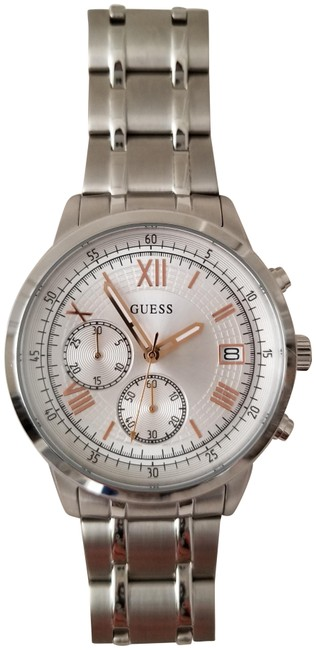 Guess Silver Tone New Men's Sport Watch Guess Silver Tone New Men's Sport Watch Image 1