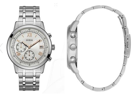 Guess New GUESS Men's SILVER-TONE SPORT WATCH