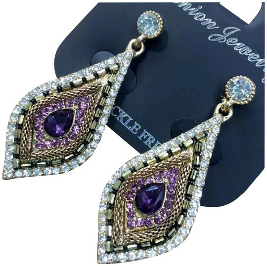 Preload https://img-static.tradesy.com/item/23861780/purple-and-bronze-acrylic-earrings-0-1-540-540.jpg