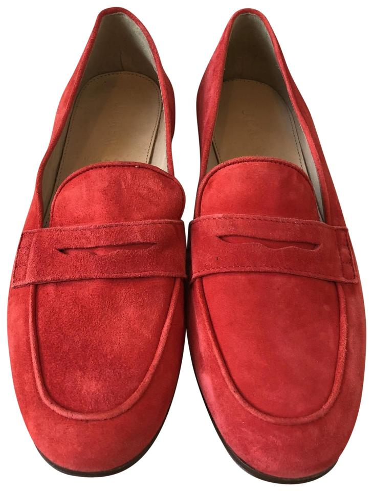 964bf478c53 J.Crew Vibrant Flame Charlie Penny Loafers In Suede Flats Size US 6 ...