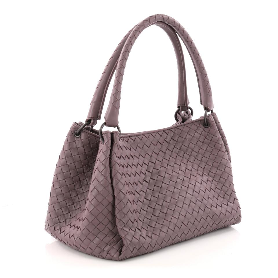 Nappa Parachute Satchel Purple Smal Intrecciato Light Handbag Bottega Veneta Leather 560qRg