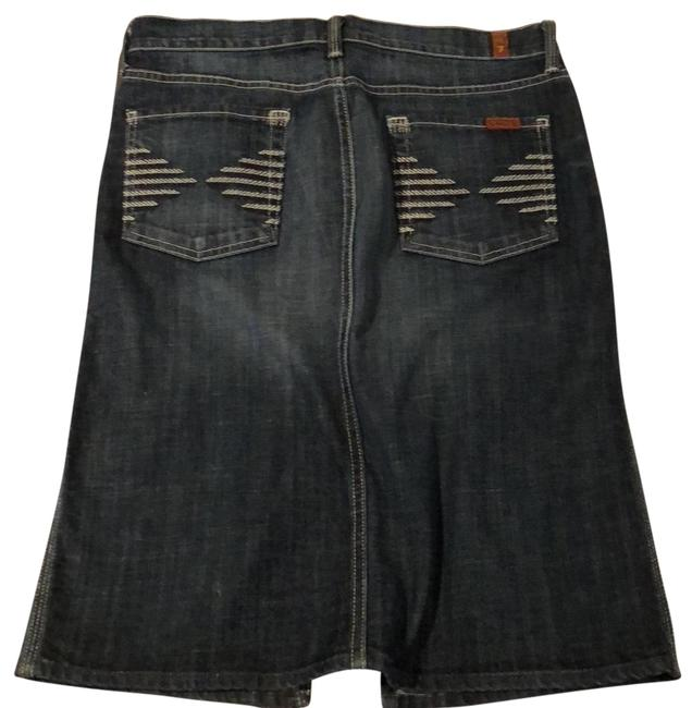 7 For All Mankind Blue Skirt Size 8 (M, 29, 30) 7 For All Mankind Blue Skirt Size 8 (M, 29, 30) Image 1