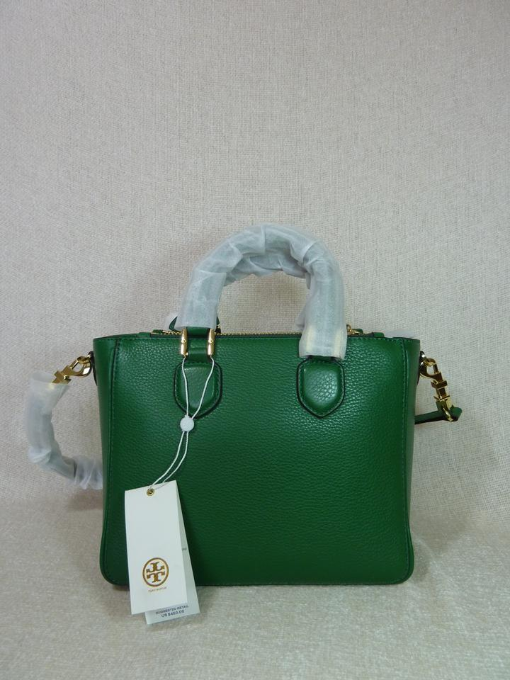 Green Robinson Square Tory Tote Bottle Leather Mini Pebbled Burch XYz115qf