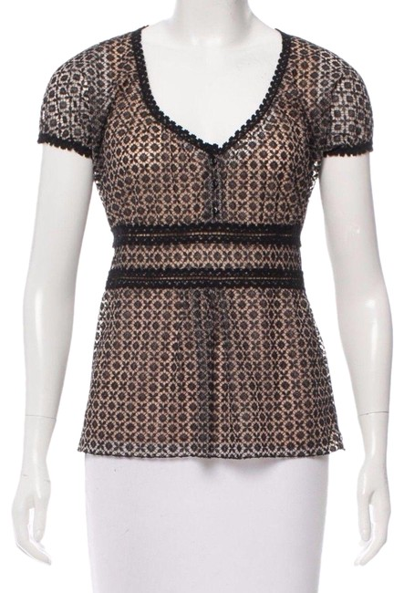 Preload https://img-static.tradesy.com/item/23862393/chanel-black-silk-embroidered-lace-short-sleeve-nude-lining-42-blouse-size-10-m-0-1-650-650.jpg