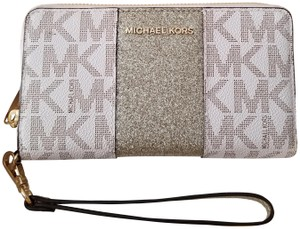Michael Kors Michael Kors Center Stripe Wallet Large Flat Phone Case Wristlet