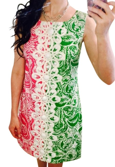 Preload https://img-static.tradesy.com/item/23862635/lilly-pulitzer-green-pink-white-jubilee-shift-kneelength-mid-length-short-casual-dress-size-2-xs-0-1-650-650.jpg