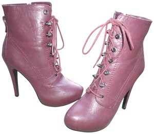 Bakers Lace Up Zip Leather Autumn High Burgundy Boots