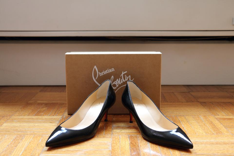 38 Louboutin 55 Givree Pigalle Pumps Black Patent In Christian Follies P4Ravna1