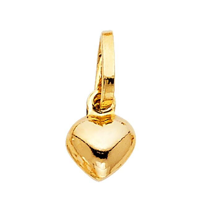 Unbranded Yellow Gold 14k Heart Pendant Charm Unbranded Yellow Gold 14k Heart Pendant Charm Image 1