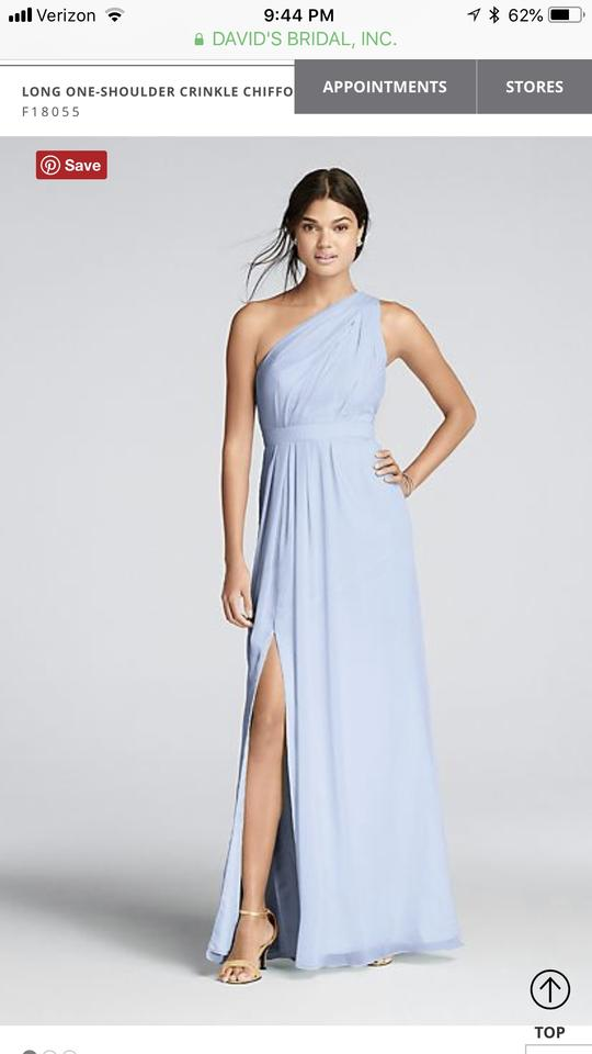 a52b1c3b80d David s Bridal Ice Blue Chiffon F18055 Formal Bridesmaid Mob Dress Size 10  (M). 1234567