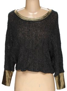 Hot & Delicious Trim Sweater Marled Blouse Loose Sleeves Loose Sweater Cardigan