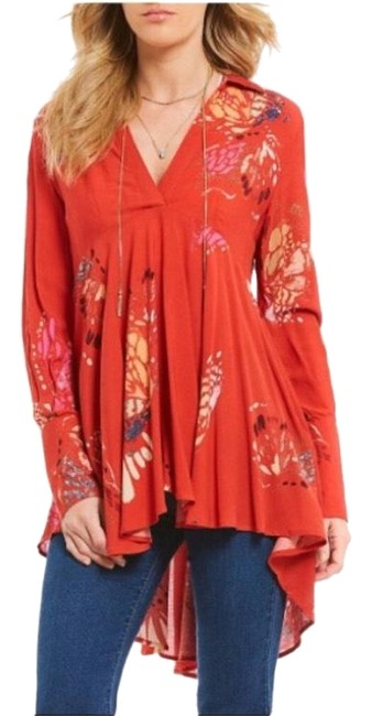 Preload https://img-static.tradesy.com/item/23862761/free-people-orange-pink-yellow-white-black-tangerine-seafoam-green-blouse-size-0-xs-0-1-650-650.jpg