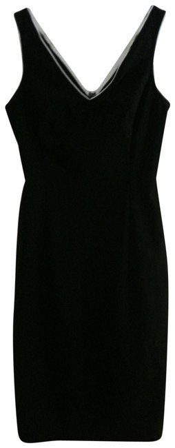 Express Black Sleevless V-neck Pencil-skirt Mid-length Work/Office Dress Size 4 (S) Express Black Sleevless V-neck Pencil-skirt Mid-length Work/Office Dress Size 4 (S) Image 1