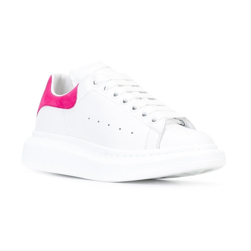 top Women's Sneaker Platform Sneakers Leather Trainers Alexander Oversized McQueen Pink Low IT7wxqYpn
