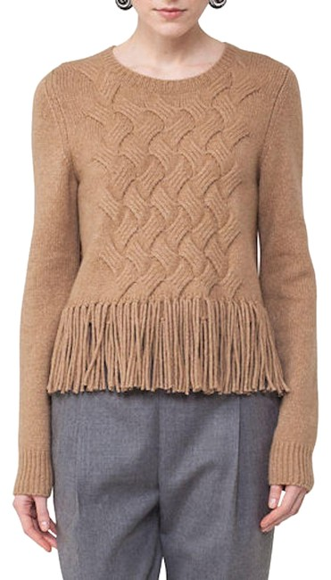 Akris Punto New With Tag Fringe Hem Wool Hair Sweater Image 0