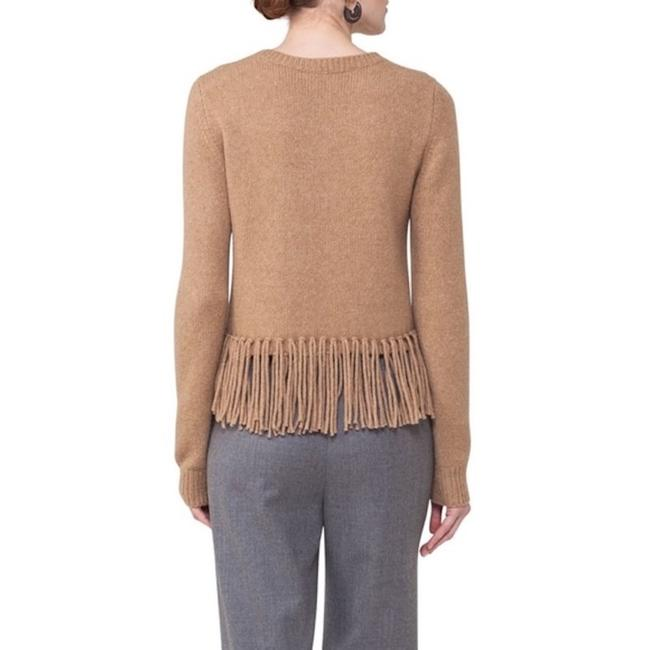 Akris Punto New With Tag Fringe Hem Wool Hair Sweater Image 1