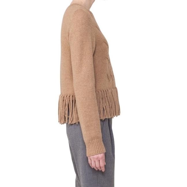 Akris Punto New With Tag Fringe Hem Wool Hair Sweater Image 2