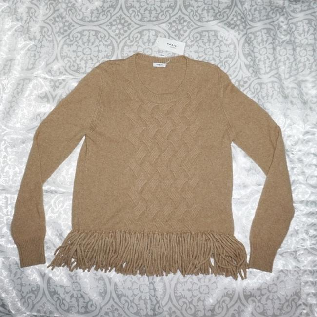 Akris Punto New With Tag Fringe Hem Wool Hair Sweater Image 3