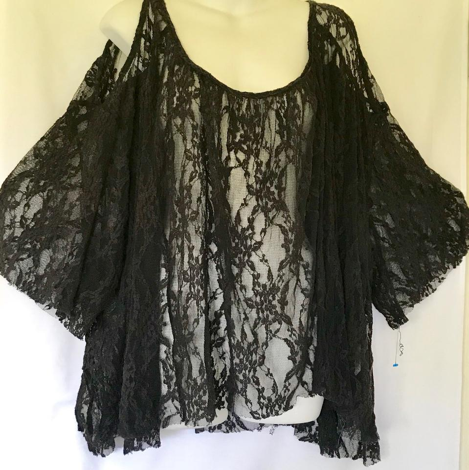 Black People Tunic Shoulder Free Cold Sfqw85A