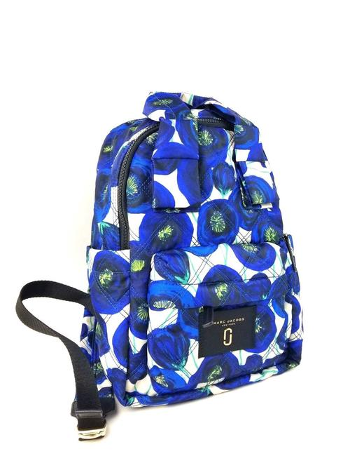 Item - Floral Print Casual Blue Multi Nylon Backpack