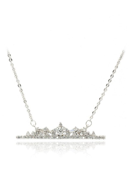 Ocean Fashion Silver Sterling Exquisite Sparkling Crystal Necklace Ocean Fashion Silver Sterling Exquisite Sparkling Crystal Necklace Image 1