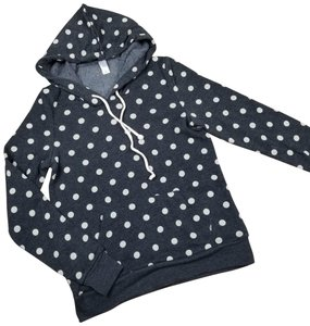 Alternative Apparel sz S polka dots fleece pullover hoodie