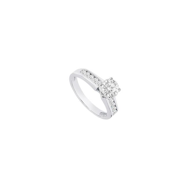 White White Cubic Zirconia Engagement Sterling Silver 1 Ct Tgw Ring White White Cubic Zirconia Engagement Sterling Silver 1 Ct Tgw Ring Image 1