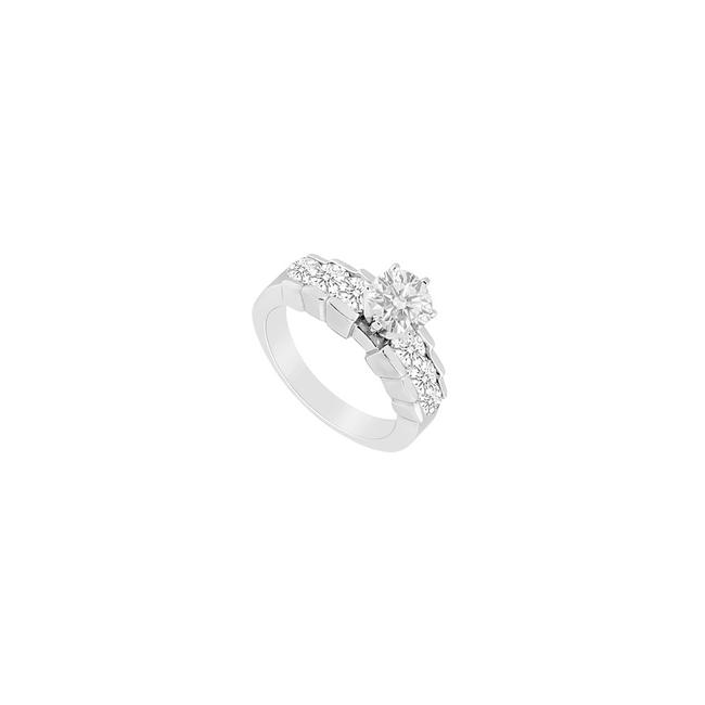 White White Cubic Zirconia Engagement Sterling Silver 1.00 Ct Czs Ring White White Cubic Zirconia Engagement Sterling Silver 1.00 Ct Czs Ring Image 1