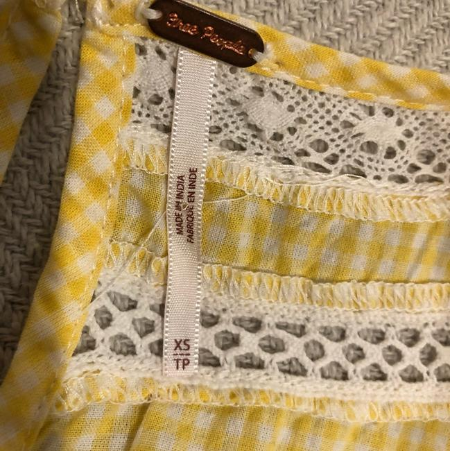 Free People short dress yellow and white on Tradesy Image 2