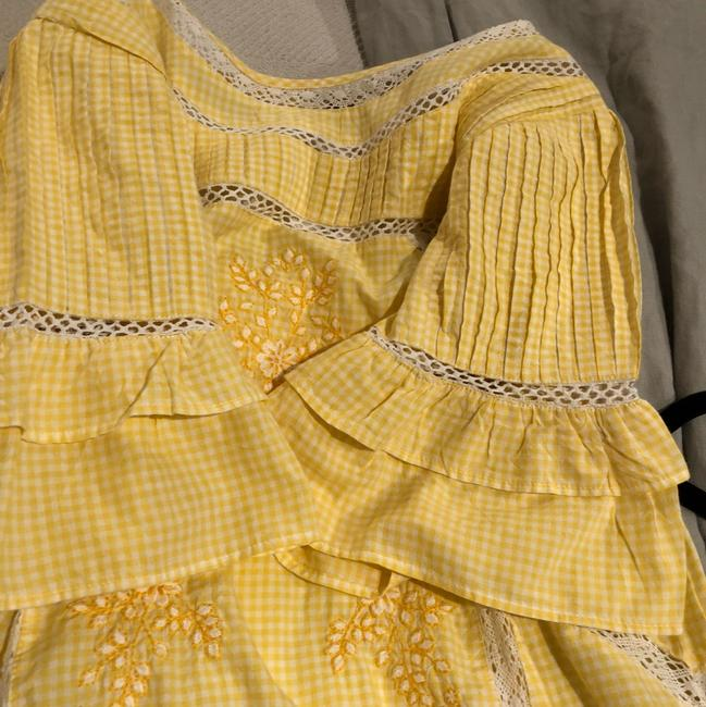 Free People short dress yellow and white on Tradesy Image 3