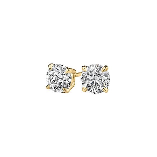 Yellow Surprise Her with Natural Diamond Stud In Gold Earrings Yellow Surprise Her with Natural Diamond Stud In Gold Earrings Image 1