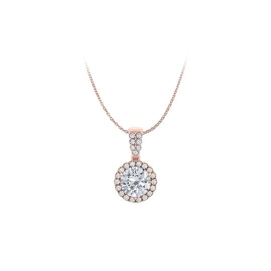 Preload https://img-static.tradesy.com/item/23863758/white-14k-rose-gold-vermeil-halo-pendant-with-cubic-zirconia-necklace-0-0-540-540.jpg