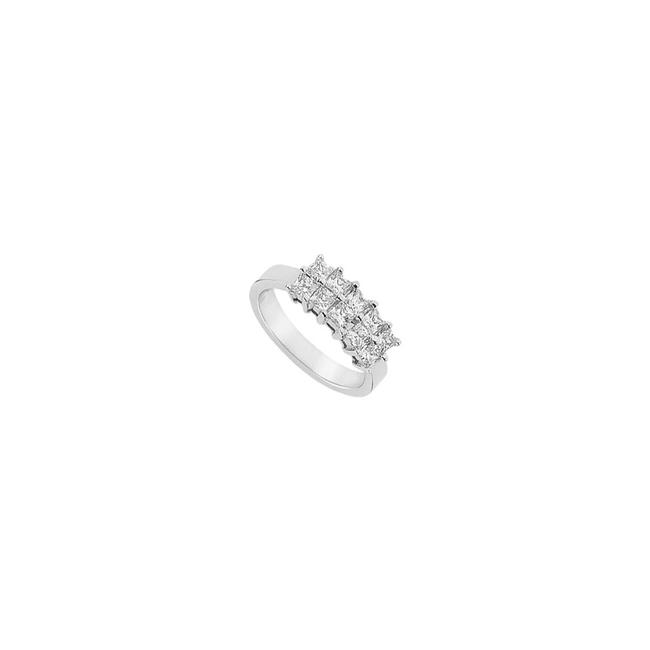 White White Cubic Zirconia Sterling Silver 1.00 Ct Czs Ring White White Cubic Zirconia Sterling Silver 1.00 Ct Czs Ring Image 1