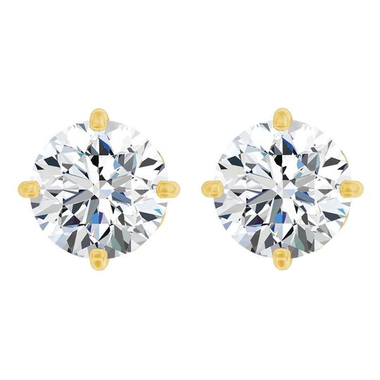 Preload https://img-static.tradesy.com/item/23863823/white-200-carat-cz-fleur-de-lis-14k-yellow-gold-earrings-0-0-540-540.jpg