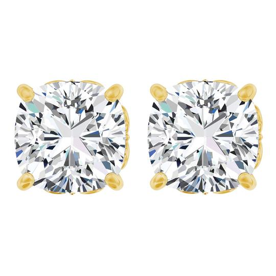 Preload https://img-static.tradesy.com/item/23863838/white-antique-square-4-prong-14k-yellow-gold-with-cz-earrings-0-0-540-540.jpg