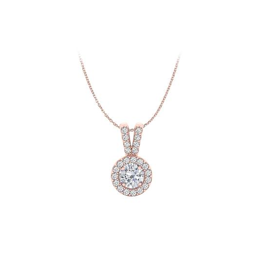 Preload https://img-static.tradesy.com/item/23863912/white-halo-pendant-with-cz-in-14k-rose-gold-vermeil-for-her-necklace-0-0-540-540.jpg