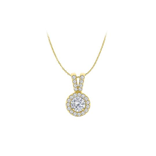Preload https://img-static.tradesy.com/item/23863918/white-halo-pendant-with-cz-in-18k-yellow-gold-vermeil-for-her-necklace-0-0-540-540.jpg