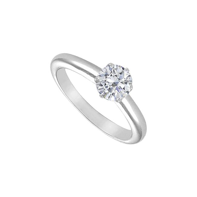 White White Cubic Zirconia Solitaire Sterling Silver 1.00 Ct Ring White White Cubic Zirconia Solitaire Sterling Silver 1.00 Ct Ring Image 1