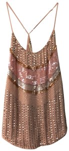 Chelsea Flower Embellished Beaded Camisole Detail Sparkle Top Pink
