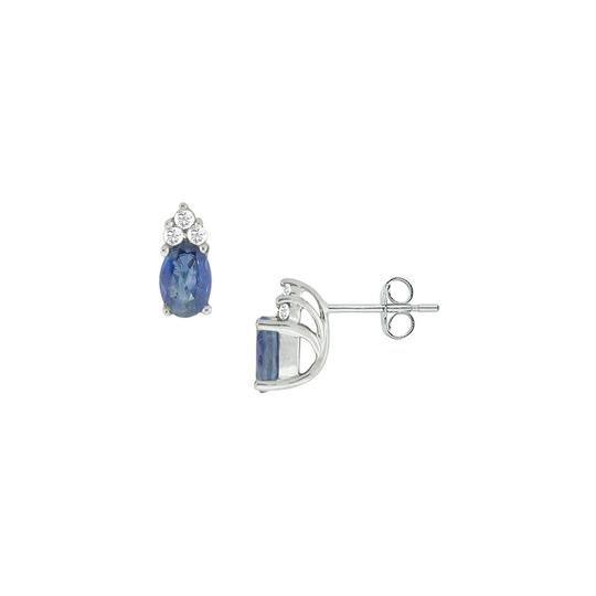 Preload https://img-static.tradesy.com/item/23863945/blue-created-sapphire-and-cubic-zirconia-14k-white-gold-100-earrings-0-0-540-540.jpg