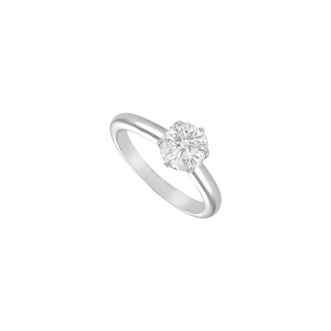 White White Cubic Zirconia Solitaire Sterling Silver 1.75 Ct Ring White White Cubic Zirconia Solitaire Sterling Silver 1.75 Ct Ring Image 1