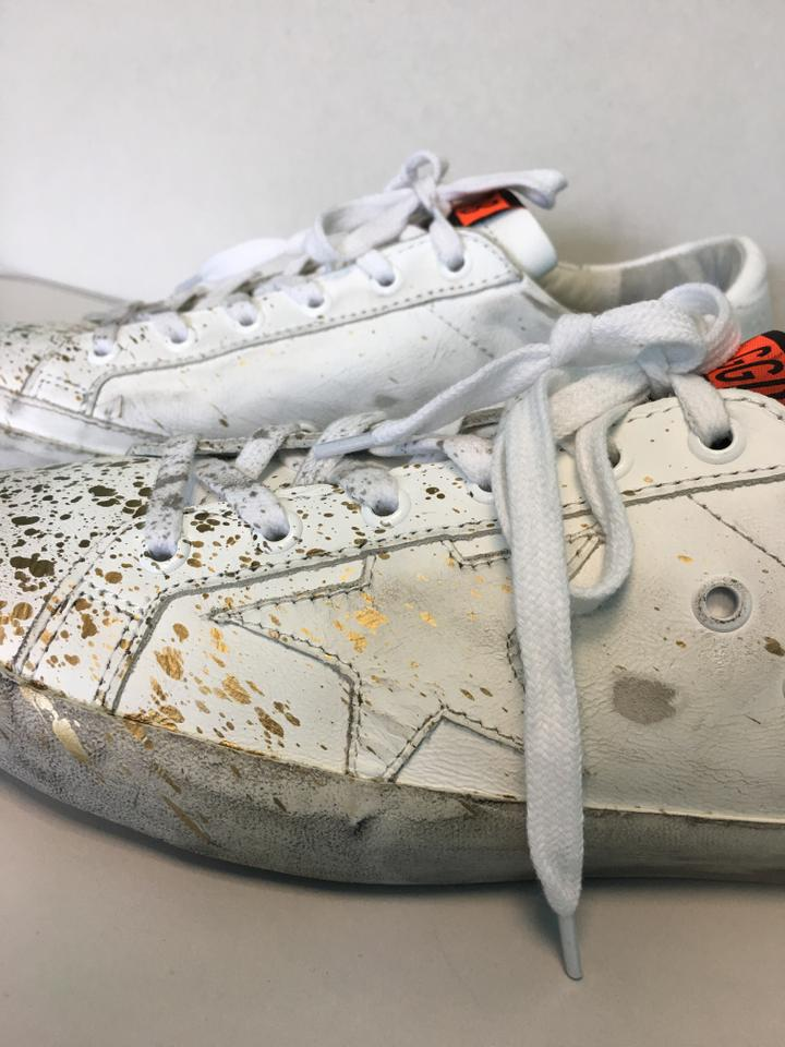 b313f0535ad Golden Goose Deluxe Brand White Low-top Superstar D52 Leather/Gold Paint  Splatter Sneakers Size EU 40 (Approx. US 10) Regular (M, B)