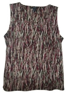 ALFANI Top Red & Brown