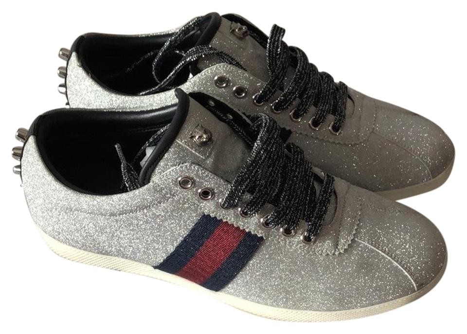 Gucci Men Silver Sparkle Sneakers silver Athletic ... a9bb622a8