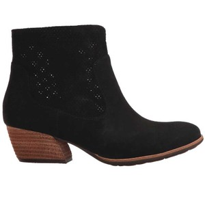 Kork-Ease Perforated Black Suede Boots