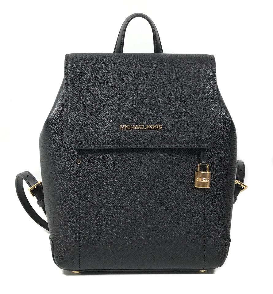 771609a2ad81 Michael Kors Hayes Medium Black Leather Backpack - Tradesy