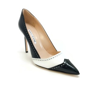 Manolo Blahnik Black / White Pumps